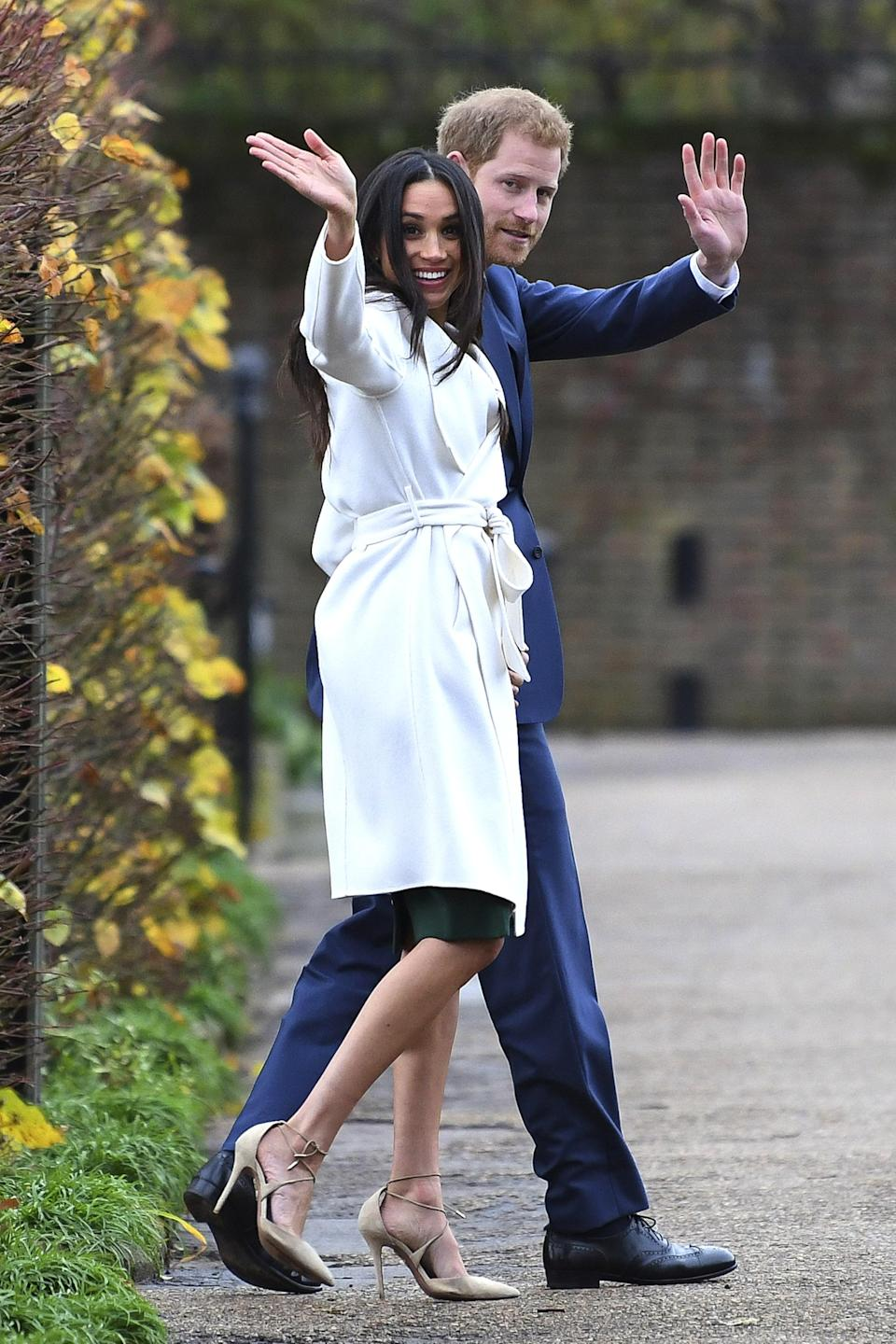 <p>According to The Cut, there's an unspoken rule among royals that dictate women wear hosiery. Queen Elizabeth has been wearing pantyhose for 91 years, while Kate Middleton prefers glossy, sheer nylons.<br>Meghan bravely decided to keep her legs bare, perhaps another sign that the royal family is becoming modern.</p>