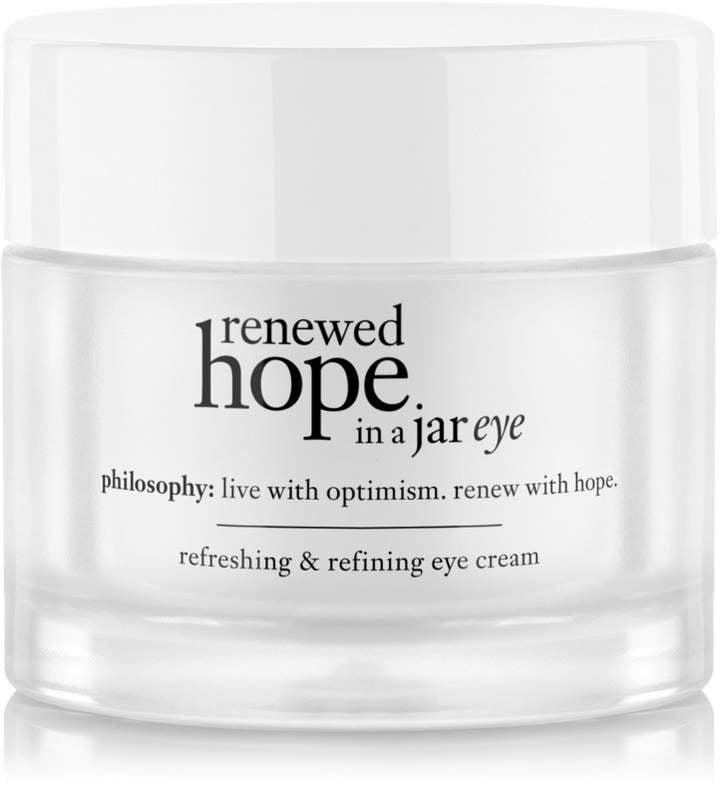 <p>Give your tired eyes a boost of energy with this popular <span>Philosophy Renewed Hope in a Jar Eye</span> ($51) cream. The hydrating formula helps reduce fine lines and dark circles. </p>