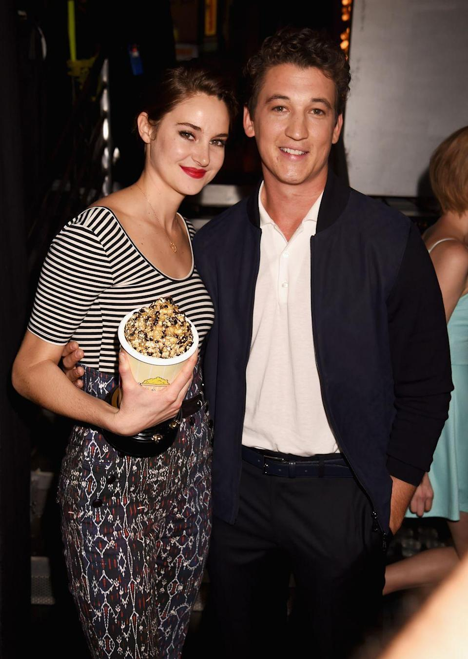 "<p>Shailene Woodley's low-maintenance, earthy tendencies are infamous. And, apparently, they impact her on-screen life as well. Just before an embrace with Miles Teller in <em>The Spectacular Now</em>, Woodley chowed down on Chinese dirt supplements, which Teller calls a pouch of dirt. <a href=""https://www.vulture.com/2013/07/shailene-woodley-not-a-fan-of-gatorade-breath.html"" rel=""nofollow noopener"" target=""_blank"" data-ylk=""slk:He says"" class=""link rapid-noclick-resp"">He says</a> that it ""smelled like crap."" Can't imagine that it tasted much better.</p>"