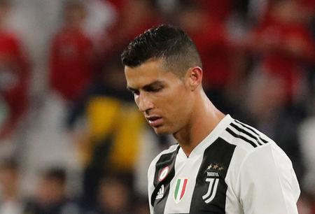 Soccer Football - Serie A - Juventus v Genoa - Allianz Stadium, Turin, Italy - October 20, 2018  Juventus' Cristiano Ronaldo looks dejected after the match   REUTERS/Stefano Rellandini
