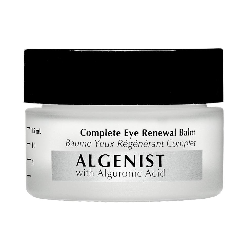 """<p>The <a href=""""https://www.popsugar.com/buy/Algenist-Complete-Eye-Renewal-Balm-553538?p_name=Algenist%20Complete%20Eye%20Renewal%20Balm&retailer=sephora.com&pid=553538&price=68&evar1=bella%3Auk&evar9=47275268&evar98=https%3A%2F%2Fwww.popsugar.com%2Fbeauty%2Fphoto-gallery%2F47275268%2Fimage%2F47275284%2FAlgenist-Complete-Eye-Renewal-Balm&list1=shopping%2Csephora%2Ceye%20cream%2Cvitamin%20c%2Cbeauty%20shopping&prop13=api&pdata=1"""" rel=""""nofollow noopener"""" class=""""link rapid-noclick-resp"""" target=""""_blank"""" data-ylk=""""slk:Algenist Complete Eye Renewal Balm"""">Algenist Complete Eye Renewal Balm</a> ($68) nourishes and tones the undereye area with plant extracts like cucumber, aloe, and green tea, along with vitamin C. The balm-like texture fills in fine lines so any makeup that follows has a smooth canvas waiting.</p>"""