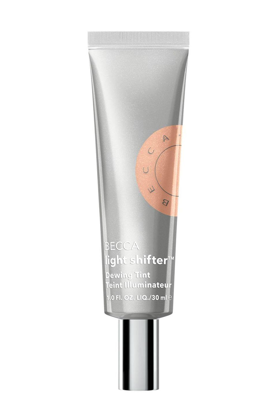 """<p><strong>BECCA Cosmetics</strong></p><p>sephora.com</p><p><strong>$30.00</strong></p><p><a href=""""https://go.redirectingat.com?id=74968X1596630&url=https%3A%2F%2Fwww.sephora.com%2Fproduct%2Fbecca-cosmetics-light-shifter-dewing-tint-tinted-moisturizer-P468122&sref=https%3A%2F%2Fwww.cosmopolitan.com%2Fstyle-beauty%2Fbeauty%2Fg36094404%2Fbest-skin-tints%2F"""" rel=""""nofollow noopener"""" target=""""_blank"""" data-ylk=""""slk:Shop Now"""" class=""""link rapid-noclick-resp"""">Shop Now</a></p><p>A few drops of this skin tint will give you the dewiest, glowiest skin of your GD life—trust me. It's infused with hyaluronic acid to plump and hydrate, plus <strong>sheer shimmery pigments (just like a <a href=""""https://www.cosmopolitan.com/style-beauty/beauty/g8655202/best-highlighter-makeup-for-face/"""" rel=""""nofollow noopener"""" target=""""_blank"""" data-ylk=""""slk:highlighter"""" class=""""link rapid-noclick-resp"""">highlighter</a>) </strong>to instantly illuminate your skin.</p>"""