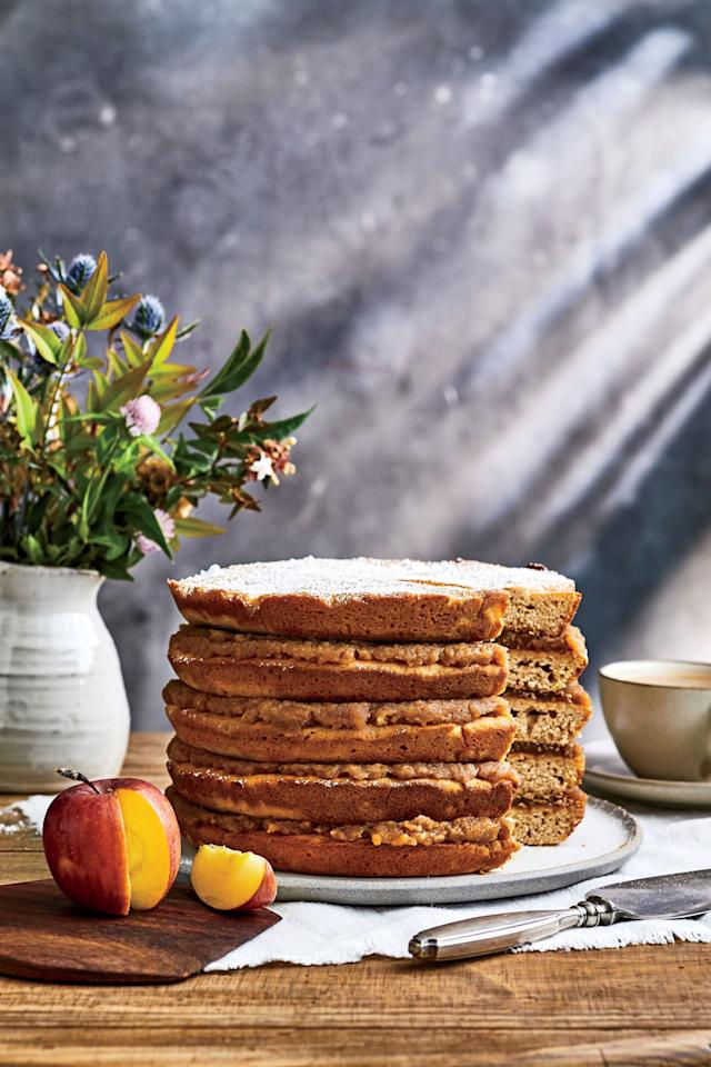 """<p><b>Recipe: <a href=""""https://www.southernliving.com/recipes/apple-stack-cake-recipe"""">Apple Stack Cake</a></b></p> <p>Don't be deterred by the recipe time, this delicious dessert is well worth the effort. </p>"""