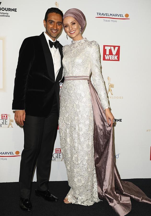 Waleed and his wife Susan were asked a very awkward question on the Logies red carpet. Photo: Getty