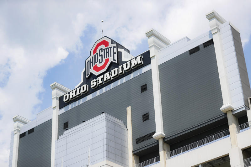 How many fans will Ohio Stadium be able to hold in the fall? (AP Photo/John Minchillo)