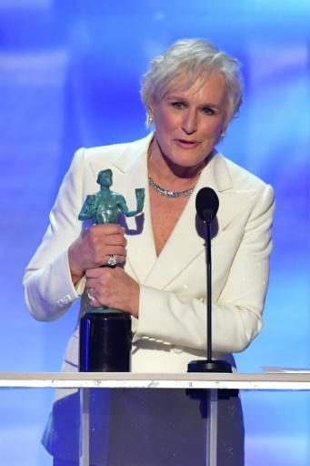 """Glenn Close won the Screen Actors Guild Award (known as the Actor) for best actress for """"The Wife"""" -- she is now the one to beat for the Oscar"""