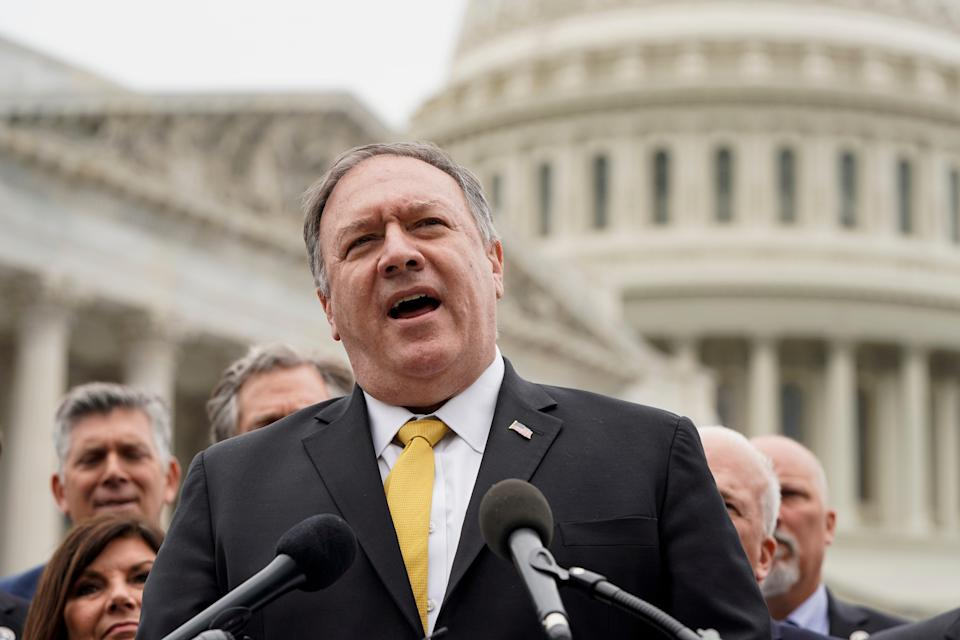 A whiskey bottle given to Mike Pompeo at the the State Department has gone missing (Getty Images)