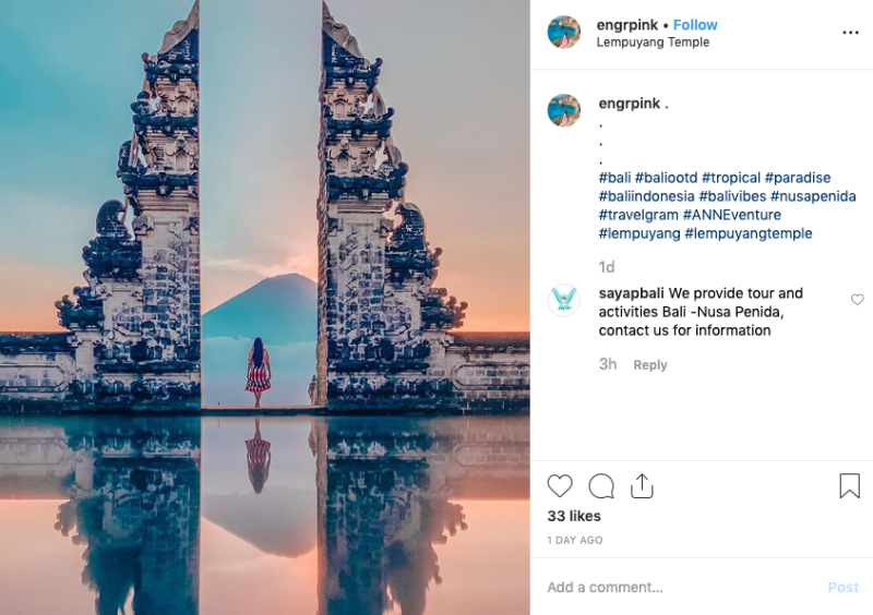 """The temple gate is known to the western world as """"The Gates of Heaven"""" and has featured in hundreds of Instagram posts in recent years. Source: Instagram"""