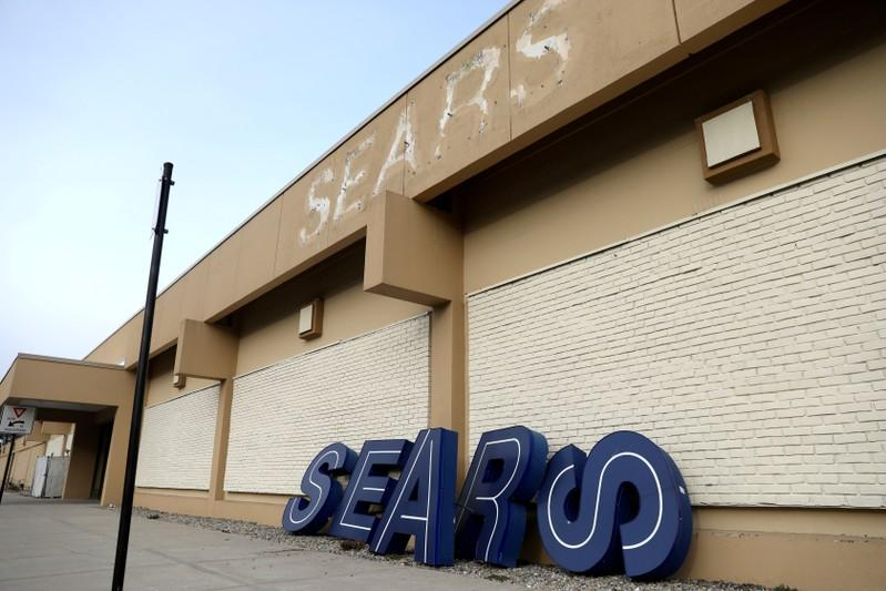 FILE PHOTO: Dismantled sign sits leaning outside a Sears department store in Nanuet