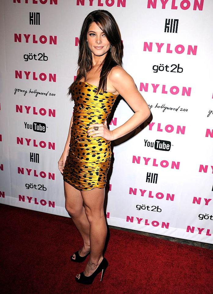 """""""Twilight"""" star Ashley Greene showed her animal magnetism in a figure-hugging D&G mini dress. Steve Granitz/<a href=""""http://www.wireimage.com"""" target=""""new"""">WireImage.com</a> - May 12, 2010"""