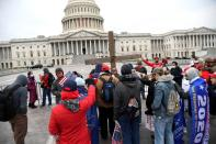 Trump supporters gather as Congress meets to certify 2020 presidential election