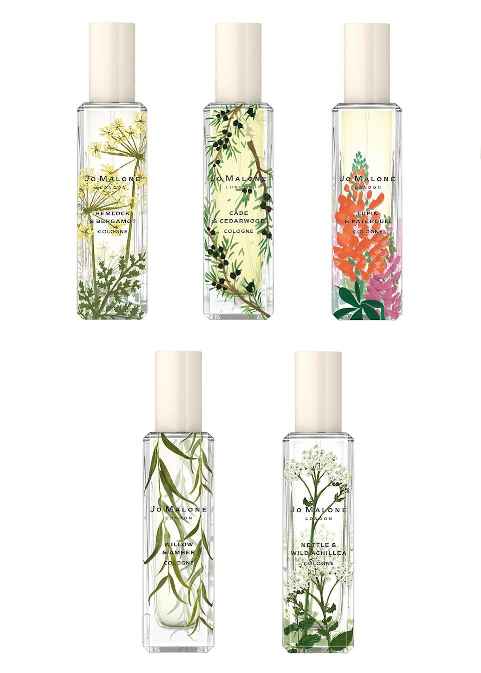 """<p>Nothing smells like spring more than Jo Malone's newest drop with five fresh fragrances inspired by wild flowers. If not for you, they're sure to make the perfect Mother's Day gift. <a href=""""https://www.jomalone.co.uk/jo-malone-london-wildflower-weeds"""" rel=""""nofollow noopener"""" target=""""_blank"""" data-ylk=""""slk:Shop now"""" class=""""link rapid-noclick-resp""""><em>Shop now</em></a>. </p>"""