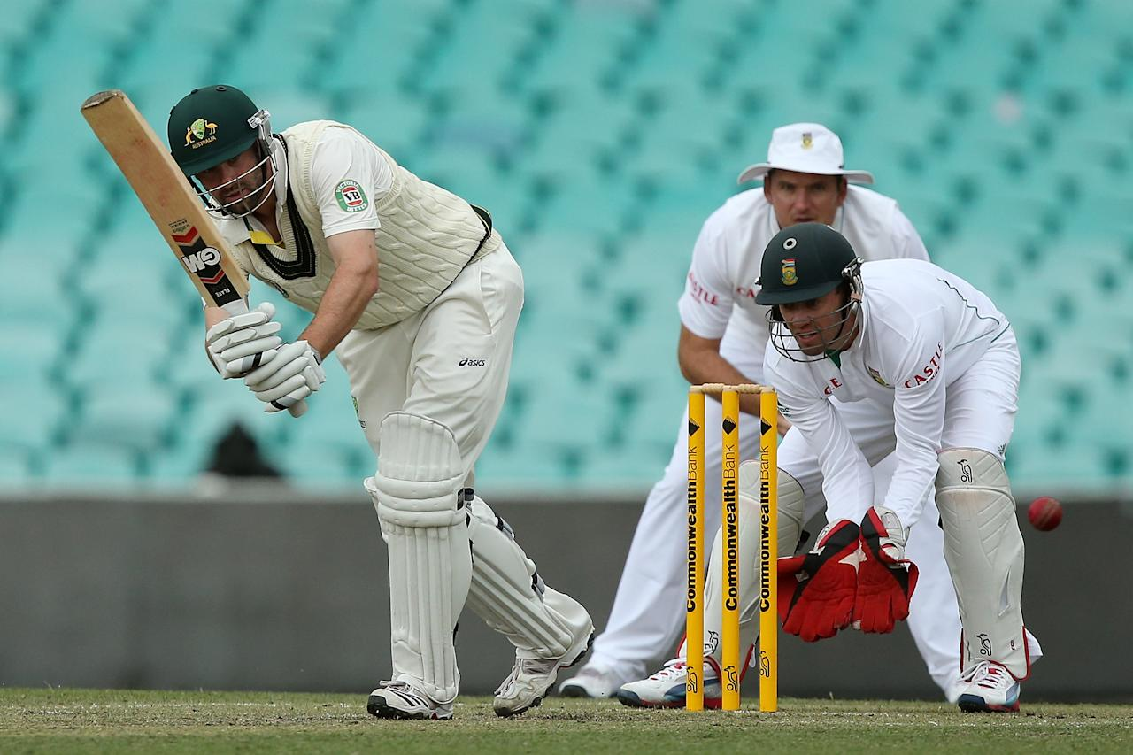 SYDNEY, AUSTRALIA - NOVEMBER 03:  Alex Doolan of Australia A bats during day two of the International TOur Match between Australia A and South Africa at Sydney Cricket Ground on November 3, 2012 in Sydney, Australia.  (Photo by Chris Hyde/Getty Images)