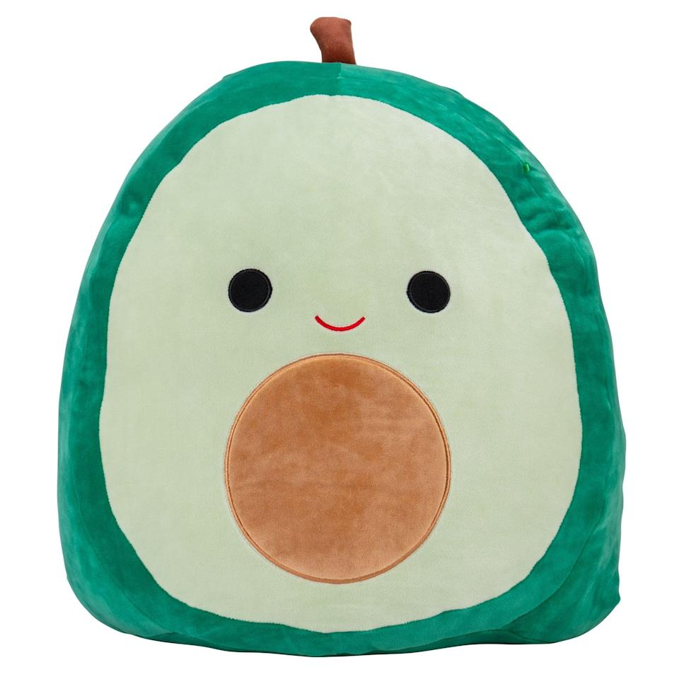 """<p>Introducing <span>Squishmallows Official Kellytoy Plush 16"""" Austin the Avocado</span> ($20), the plush toy that's certifiably impossible to not smile at.</p>"""