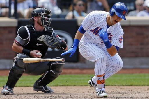 Michael Conforto is the latest Met to be hit by the injury bug. (AP)