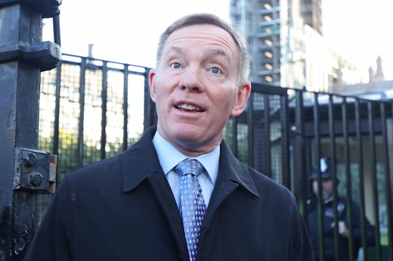 "Labour MP Chris Bryant outside the Houses of Parliament in London ahead of Prime Minister Boris Johnson delivering a statement in the House of Commons on his new Brexit deal after the EU Council summit, on what has been dubbed ""Super Saturday"". (Photo by Yui Mok/PA Images via Getty Images)"