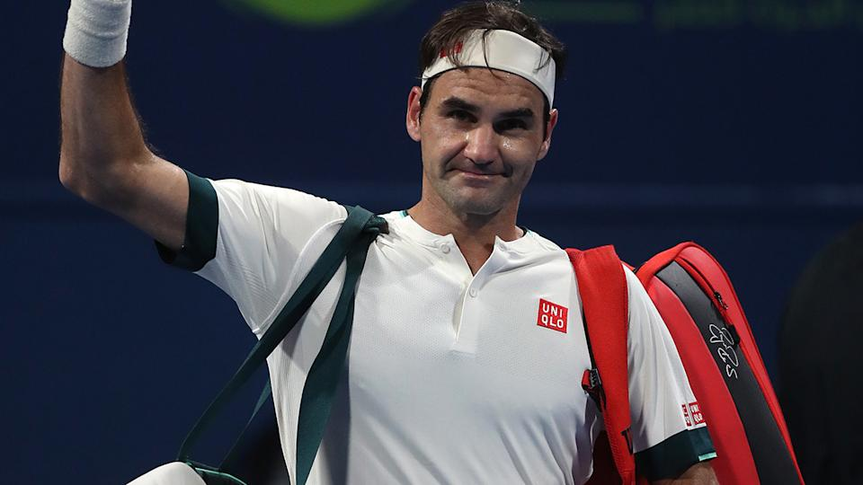 Roger Federer lost to Nikoloz Basilashvili of Georgia in his return to the court after more than 12 months out due to injury. (Photo by Mohamed Farag/Getty Images)