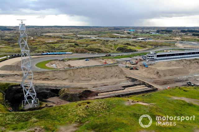 "Construction work at the Zandvoort race track for the Dutch Grand Prix <span class=""copyright"">ISP/BSR Agency </span>"