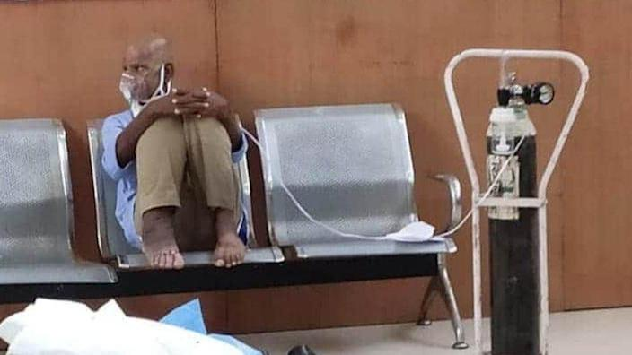 Several patients had to be given oxygen in hospital waiting areas