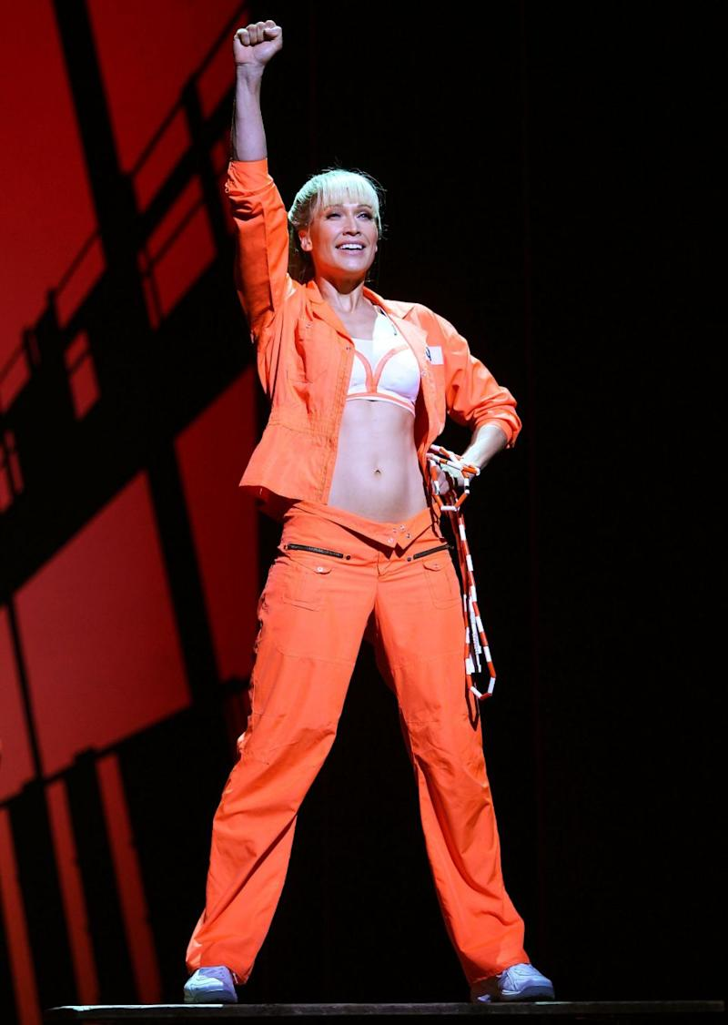 Erika on stage in Legally Blonde in 20012. Source: Getty