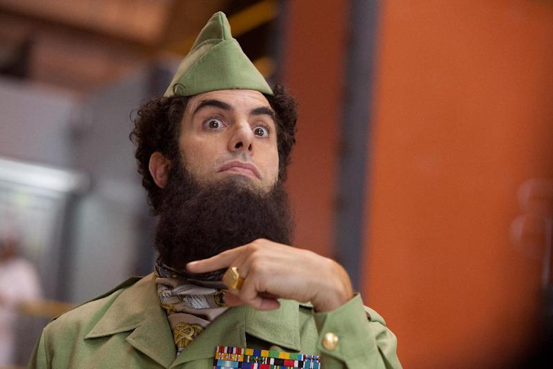 """In this film image released by Paramount Pictures, Sacha Baron Cohen, portrays Admiral General Aladeen in a scene from """"The Dictator."""" (AP Photo/Paramount Pictures, Melinda Sue Gordon)"""