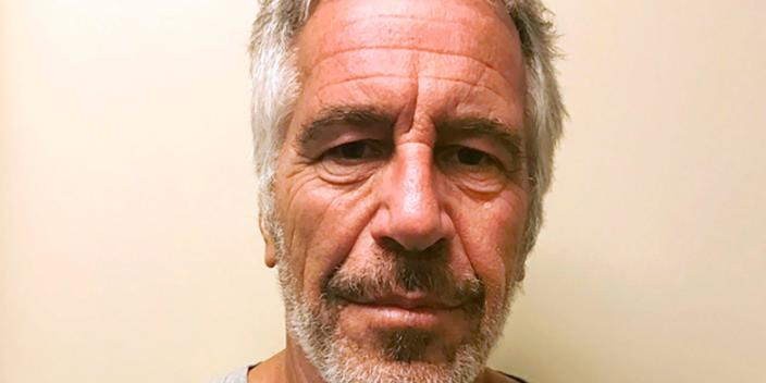 """FILE - This March 28, 2017, file photo, provided by the New York State Sex Offender Registry shows Jeffrey Epstein. The retail titan behind Victoria's Secret says the financier Jeffrey Epstein misappropriated """"vast sums"""" of his fortune while managing his personal finances. Ohio billionaire Leslie Wexner said in a letter Wednesday, Aug. 7, 2019 that he recovered """"some of the funds"""" but severed ties with Epstein in 2007 as sexual abuse allegations first surfaced against him in Florida. (New York State Sex Offender Registry via AP, File)"""