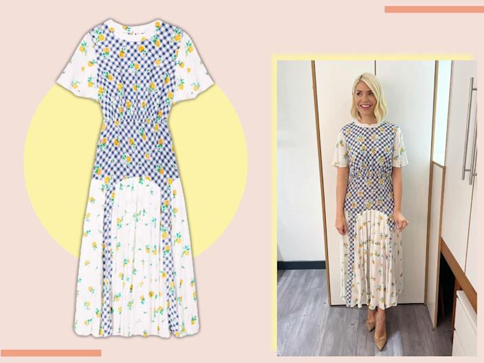 Take inspiration from Holly's wardrobe with this patchwork number (The Independent)