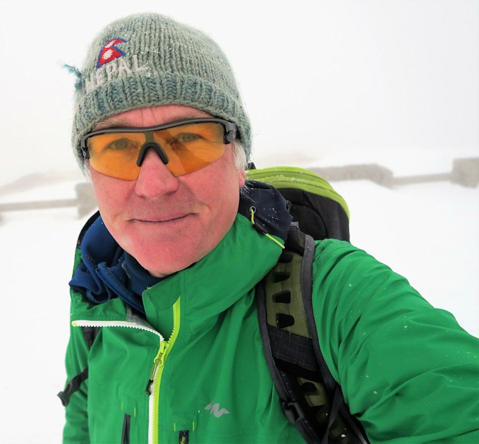 Simon Lowe, 60, plans to revive his passion for ski touring in the Alps in July, three weeks after he receives his second dose of a Covid-19 vaccine. (Photo: Simon Lowe)