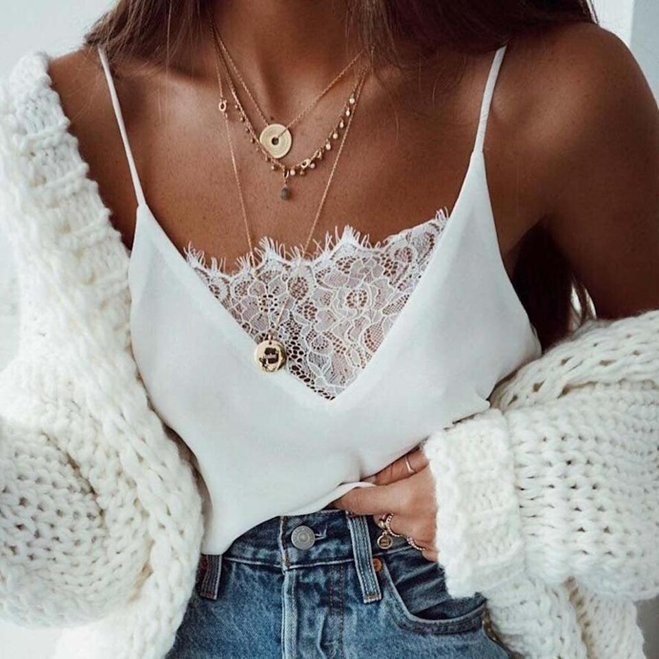 <p>This <span>Joint White Cami</span> ($6) is a great staple to have on hand. </p>