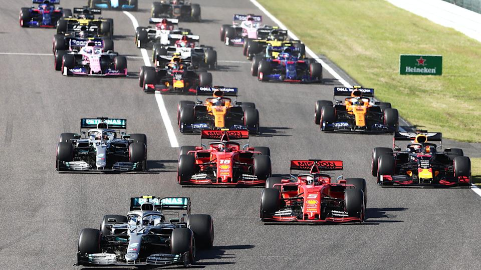 The F1 Japanese Grand Prix has been cancelled for a second year running due to concerns over the coronavirus. (Photo by BEHROUZ MEHRI/AFP via Getty Images)