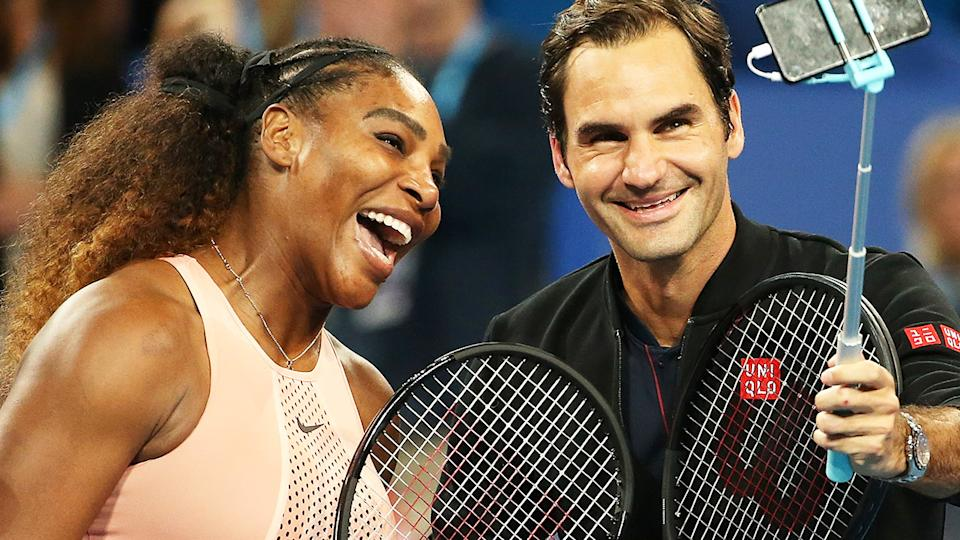 Serena Williams and Roger Federer, pictured here at the Hopman Cup in 2019.