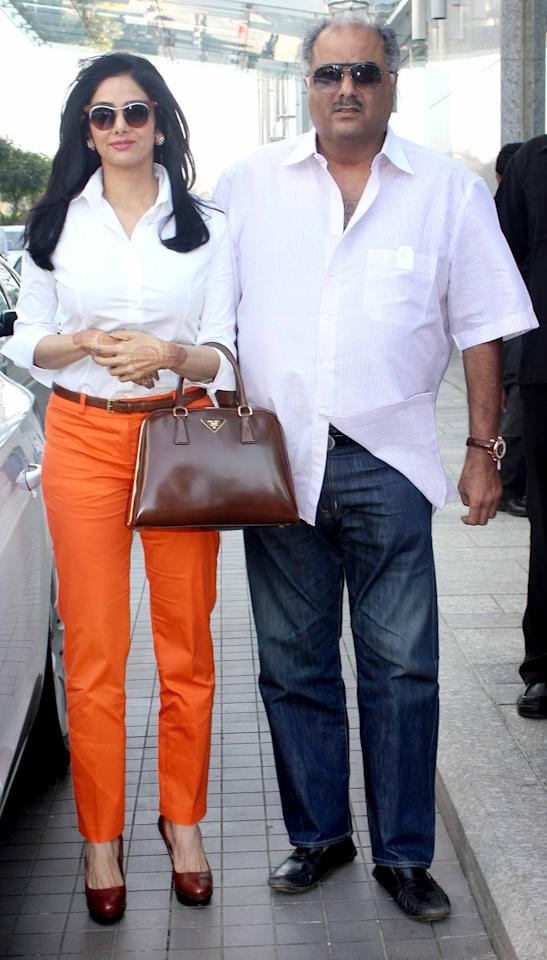 <b>4. Boney Kapoor-Sridevi</b><br><br>One of the biggest producers in Bollywood Boney Kapoor was married to Mona for 8 years. They had two children- Arjun and Anshula. In 1996, he divorced Mona and married Superstar Sridevi. The couple have two daughters, Jhanvi and Khusi.<br><br>
