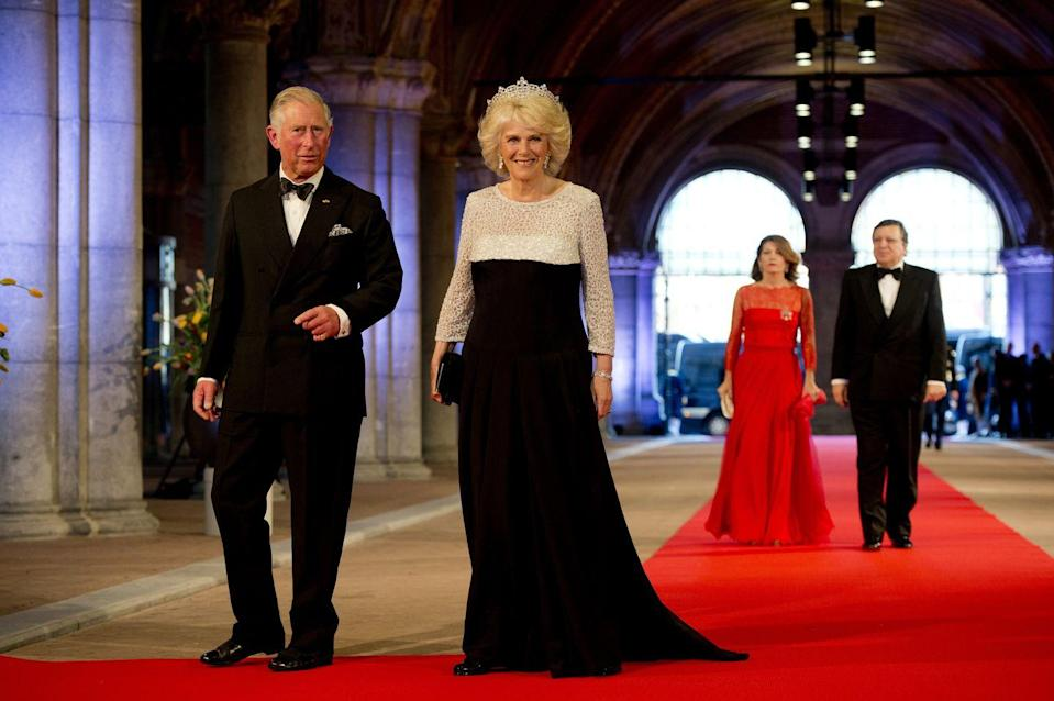 <p>Charles and Camilla attend a dinner hosted by Queen Beatrix of the Netherlands in Amsterdam.</p>