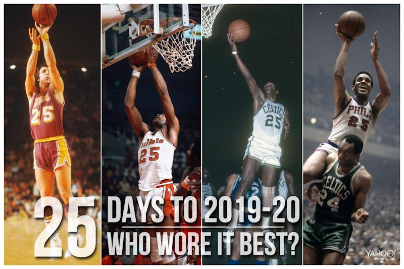 Which NBA player wore No. 25 best?