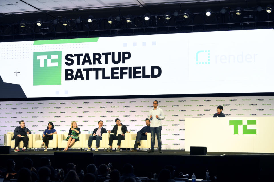 SAN FRANCISCO, CALIFORNIA - OCTOBER 04: Render's Anurag Goel speaks onstage during TechCrunch Disrupt San Francisco 2019 at Moscone Convention Center on October 04, 2019 in San Francisco, California. (Photo by Steve Jennings/Getty Images for TechCrunch)