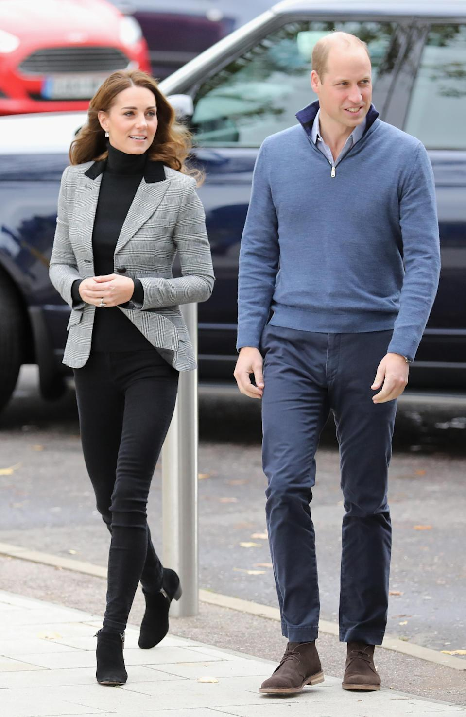 The Duchess of Cambridge wore her trusty Russell & Bromley boots. [Photo: Getty]
