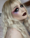 """<p>It's hard to call a vampire sweet in any capacity, but <a href=""""https://www.instagram.com/p/CREsbVSLBnB/"""" rel=""""nofollow noopener"""" target=""""_blank"""" data-ylk=""""slk:this ethereal look"""" class=""""link rapid-noclick-resp"""">this ethereal look</a> sure does fit the bill... until the fangs come out, of course. </p><p><a class=""""link rapid-noclick-resp"""" href=""""https://www.amazon.com/Unicorn-Snot-Holographic-Body-Glitter/dp/B00X4Q17F4?tag=syn-yahoo-20&ascsubtag=%5Bartid%7C10072.g.37080875%5Bsrc%7Cyahoo-us"""" rel=""""nofollow noopener"""" target=""""_blank"""" data-ylk=""""slk:SHOP FACE GLITTER"""">SHOP FACE GLITTER</a></p>"""