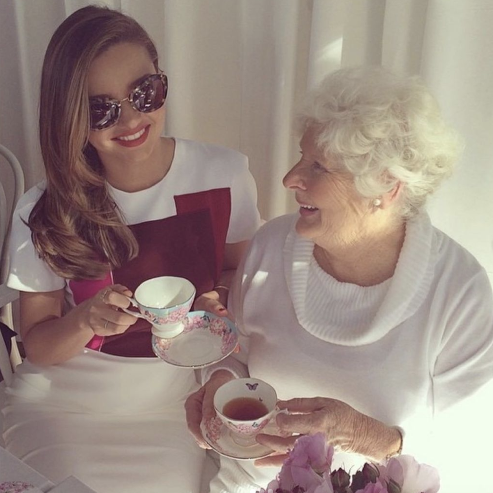 miranda kerr tribute throwback photo grandmother