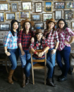 """<p>Giddy up this Halloween with your girl gang in plaid shirts, blue jeans, and boots. </p><p><a class=""""link rapid-noclick-resp"""" href=""""https://www.amazon.com/Match-Flannel-2021-X-Large-Checks/dp/B01NBFXGHL/?tag=syn-yahoo-20&ascsubtag=%5Bartid%7C10072.g.27868790%5Bsrc%7Cyahoo-us"""" rel=""""nofollow noopener"""" target=""""_blank"""" data-ylk=""""slk:Shop Shirt"""">Shop Shirt</a></p>"""
