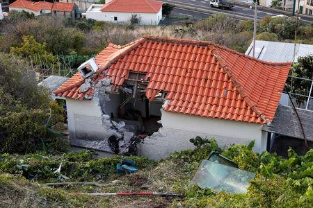 The site of a bus accident is seen in Canico, in the Portuguese Island of Madeira, April 18, 2019. REUTERS/Rafael Marchante