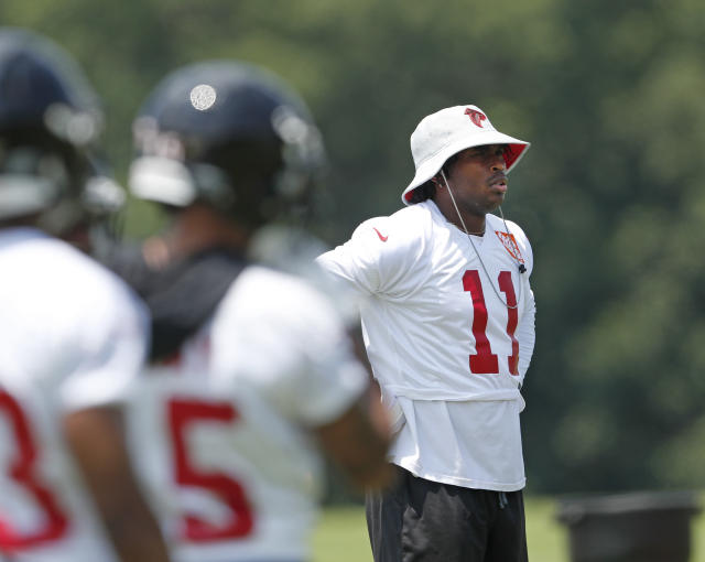 He'll be there: Atlanta Falcons receiver Julio Jones said he'll be at training camp. (AP)