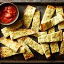 <p>Shredded zucchini, eggs and cheese combine in this easy recipe for low-carb cheesy breadsticks like you would get from the pizzeria, but healthier! Dip this gluten-free appetizer in marinara or pico de gallo for even more flavor.</p>