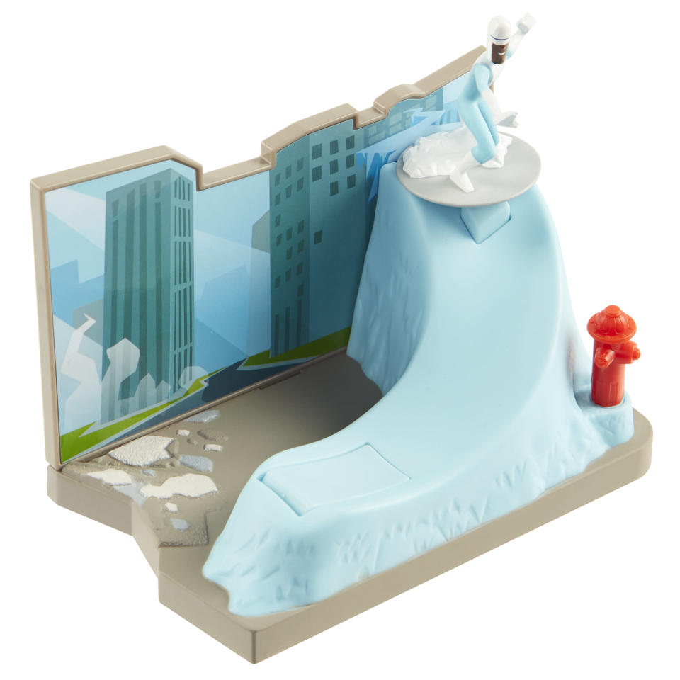 <p>This Frozone-themed play set is cool as ice. Launch Samuel L. Jackson's chilly alter ego into battle via a zippy ice slide. (Photo: Jakks) </p>
