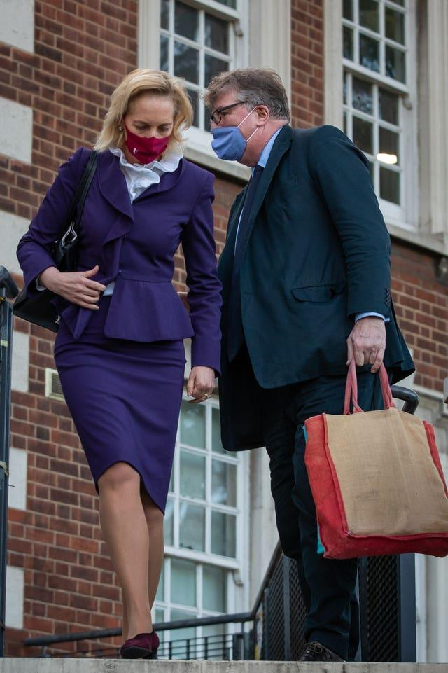 Hedge fund manager Crispin Odey with his wife Nichola Pease