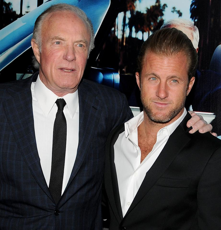 """Actors James Caan and Scott Caan attend the Los Angeles premiere HBO's """"His Way"""" at Paramount Theater on the Paramount Studios lot on March 22, 2011 in Hollywood, California. (Photo by Mark Sullivan/WireImage)"""