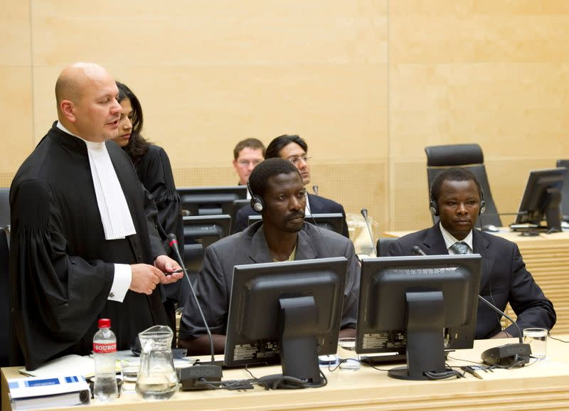 FILE PHOTO: Lawyer Khan speaks at the ICC in The Hague