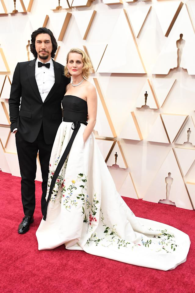 ▲Adam Driver and Joanne Tucker。(圖/BURBERRY)