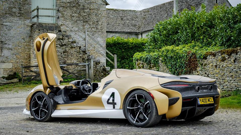 Weighing only 2,531 pounds, the Elva is powered by the McLaren Senna's same 4.0-liter V-8. - Credit: Photo: Courtesy of McLaren Automotive Limited.