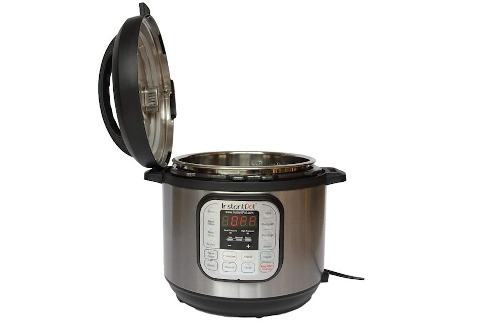 """You can <strong><a href=""""https://amzn.to/2XDgogp"""" target=""""_blank"""" rel=""""noopener noreferrer"""">get an Instant Pot on Amazon for its lowest price yet, $50</a></strong>. Just be sure to check the $10 off coupon at checkout so you see the lowest price in your cart. (Photo: Amazon)"""