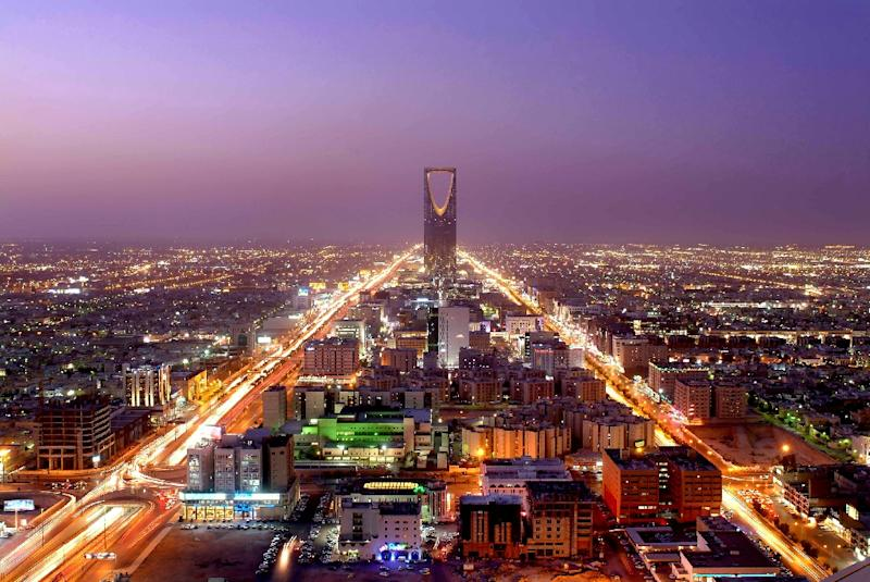 A recreational remote-controlled drone was spotted over the Khuzama neighborhood in Riyadh, a general view of the city which is seen here, and presumably shot down